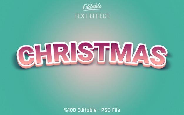 3d kerst bewerkbaar teksteffect met groene achtergrond