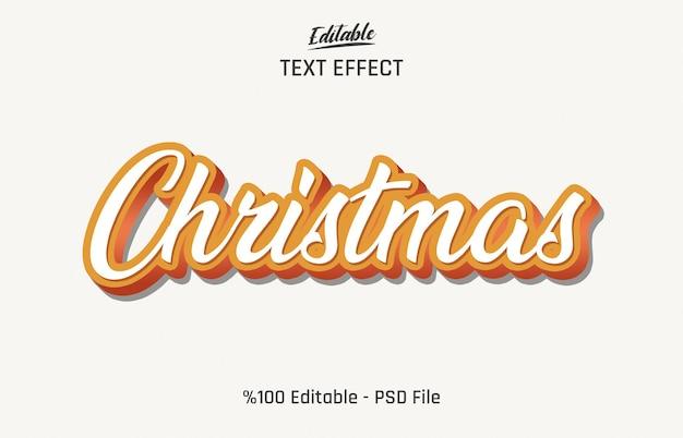 3d kerst bewerkbaar teksteffect