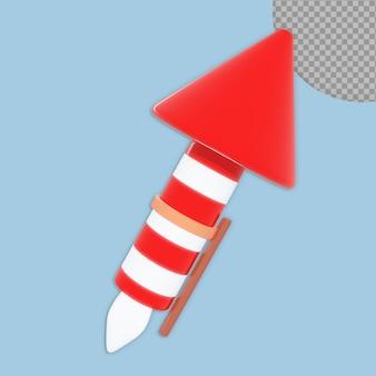 3d-kerstkrakers die ontwerp geïsoleerd teruggeven