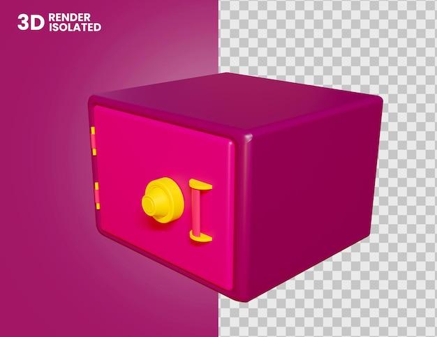 3d-kluisje pictogram geïsoleerd