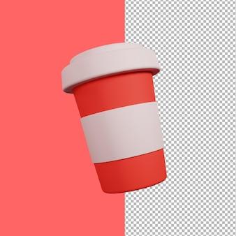 3d koffiekopje ontwerp illustratie