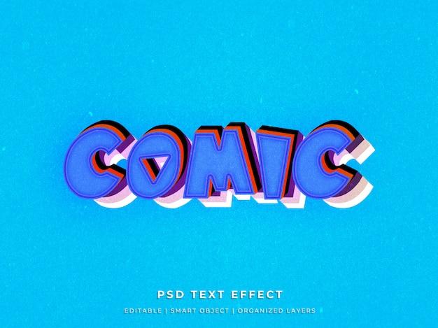 3d komisch teksteffect