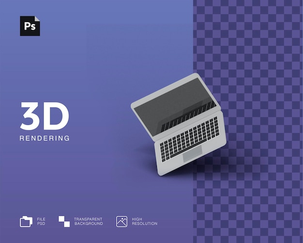 3d-laptopillustratie