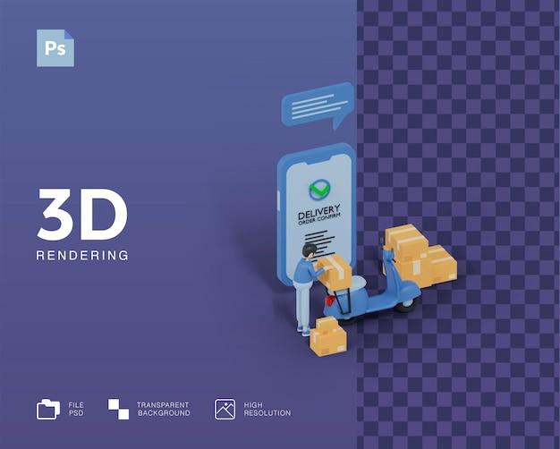 3d levering illustratie