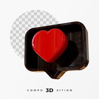3d-like en commentaarpictogram