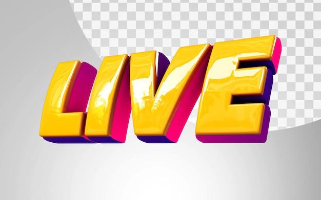 3d live glanzende weergave