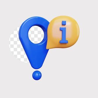 3d locatie informatie pictogram concept illustratie