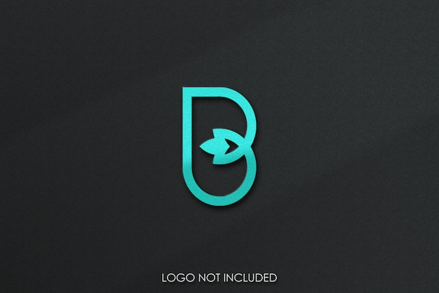 3d-logo mockup graan textuur