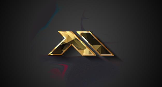 3d logo mockup in muur