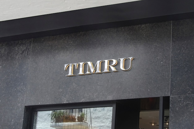 3d logo mockup luxury facade sign