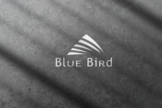 3d-logo mockup met cement textuur