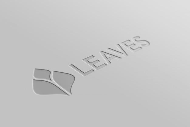3d-logo mockup met eenvoudige stijl van wit papier