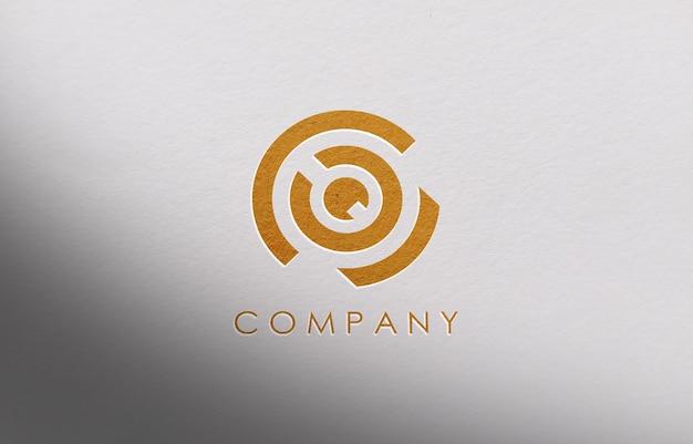 3d-logo mockup voor bedrijf