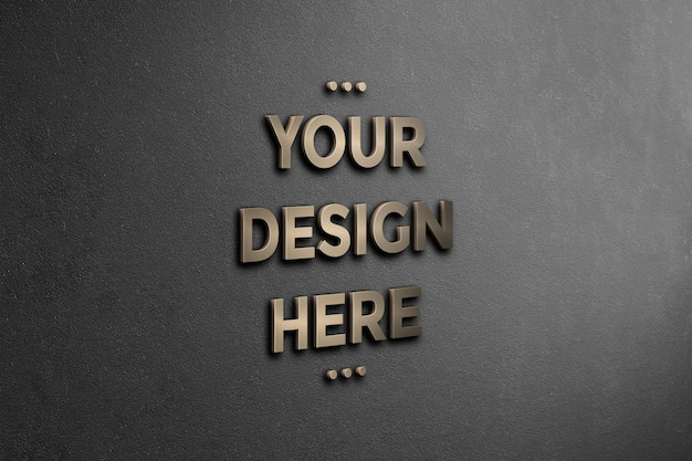 3d-logo muur mockup