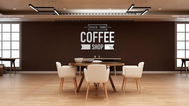 3d-logomodel in de kantoorrestaurantkamer