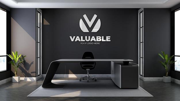 3d-logomodel in de wachtkamer van de moderne kantoorlobby