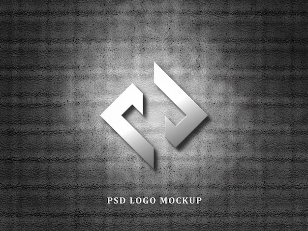 3d-logomodel op de achtergrond van de muurtextuur