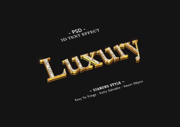 3d luxe diamanten teksteffect