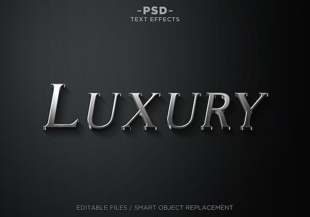 3d luxe zilveren stijl 2 effecten sjabloon tekst