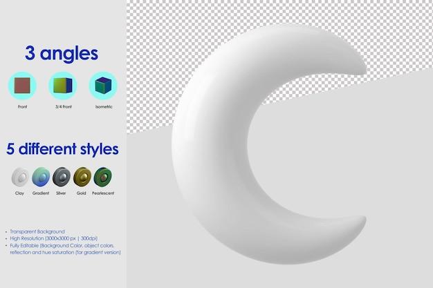 3d maan pictogram