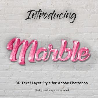 3d marble granite effetti di testo in stile texture photoshop con texture