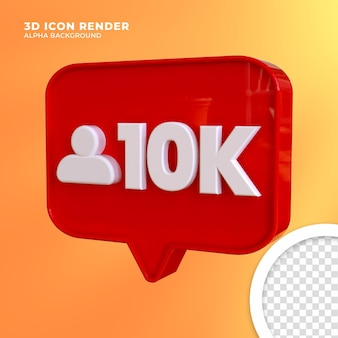 3d-melding instagram rendering Premium Psd