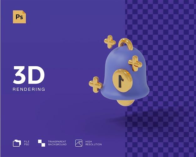 3d-melding pictogram concept weergave