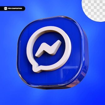 3d messenger pictogram geïsoleerd