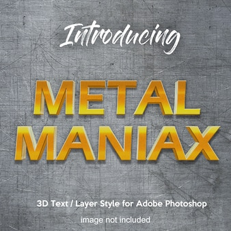 3d metal iron chrome effetti di testo in stile photoshop