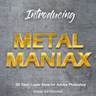 3d metal iron chrome photoshop laagstijl teksteffecten