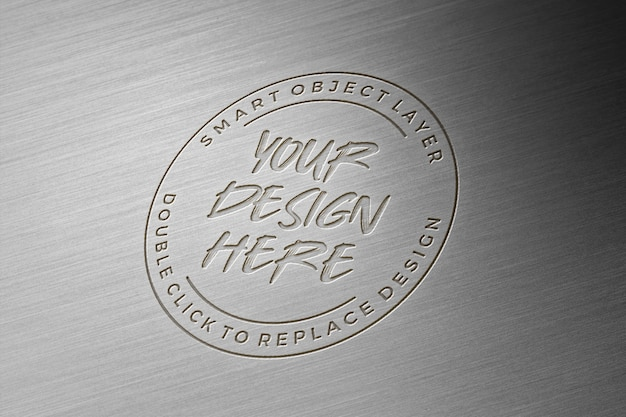 3d metalen logo mockup