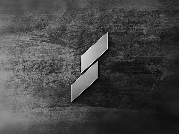 3d metalen logo