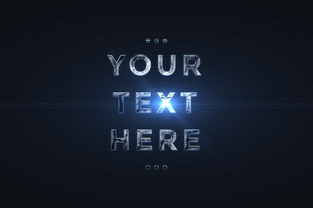 3d metalen teksteffect lettertype