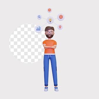 3d mindmap concept illustratie
