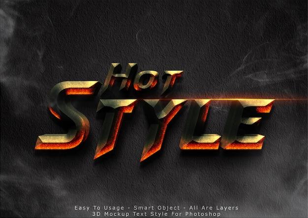 3d-mockup hot text-stijl effect