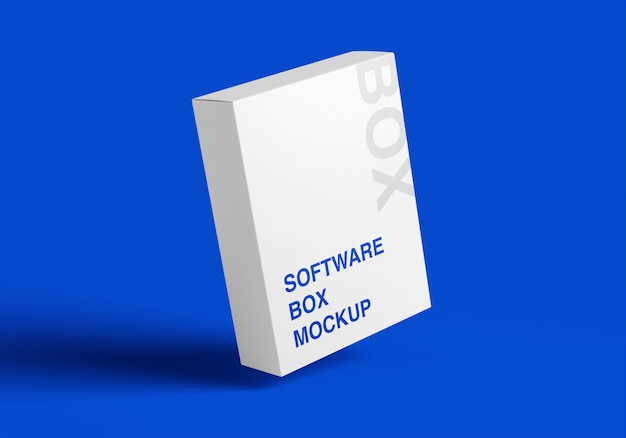 3d mockup van de softwarebox