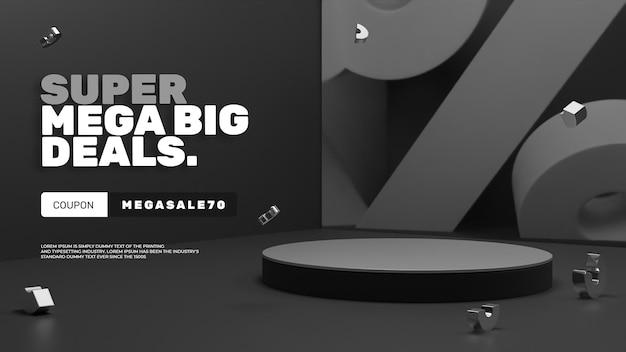 3d modern minimalistisch verkoop korting podium