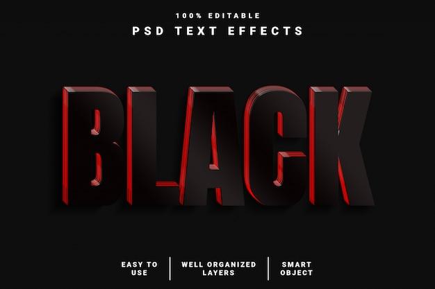 3d modern zwart realistisch teksteffect