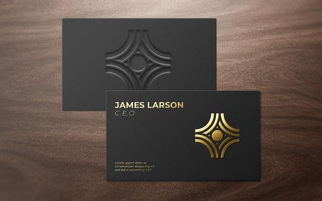 3d-moderne kaart luxe logo mockup