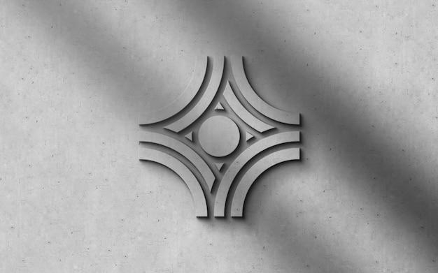 3d-moderne luxe-logo op een muur