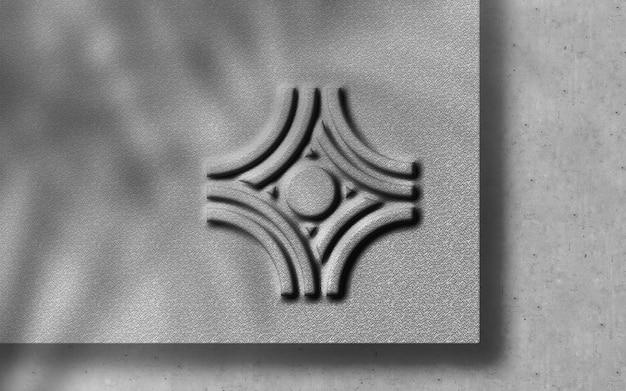 3d-moderne reliëf luxe logo op craft paper mockup