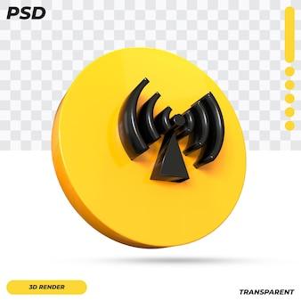 3d niet-ioniserende straling symbool ontwerp geïsoleerd
