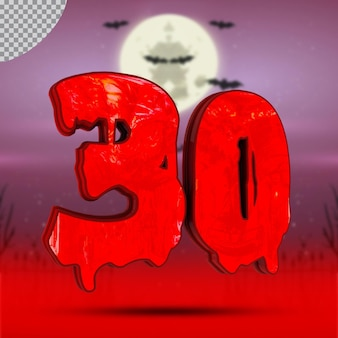 3d número 30 de halloween