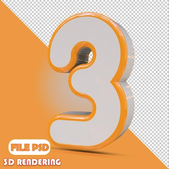 3d-nummer 3