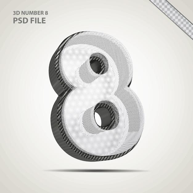 3d-nummer 8 zwart