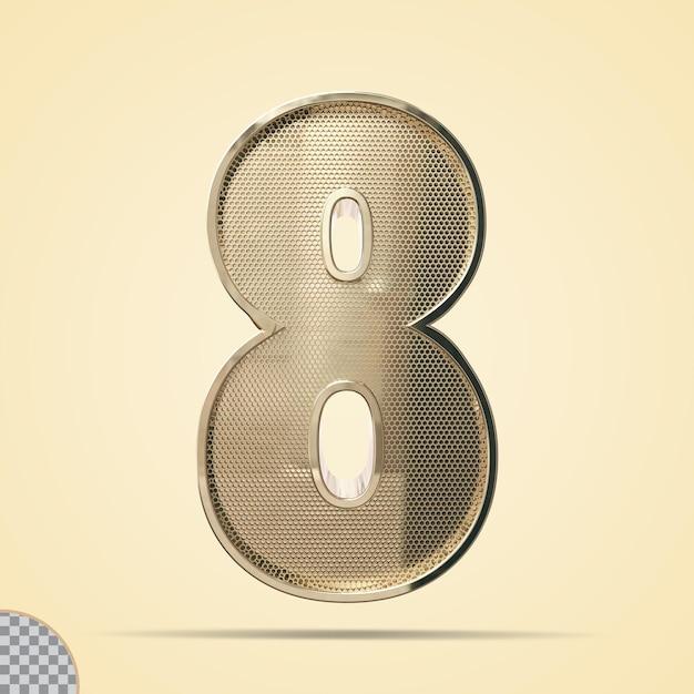 3d-nummer 8
