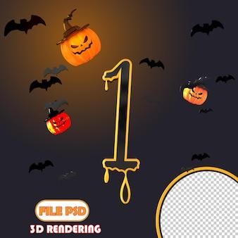 3d-nummer halloween 1