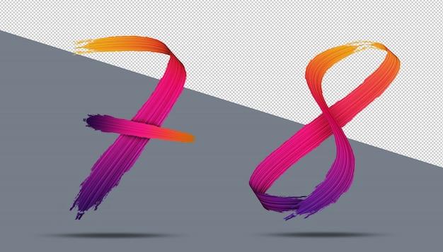 3d-nummer kalligrafie olieverf stijl