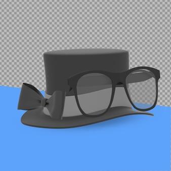 3d-object vaders dag concept rendering geïsoleerd