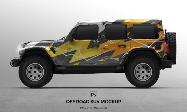3d off-road 4x4 auto mockup-ontwerppresentaties